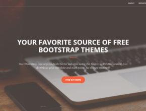 Лендинг пейдж для портфолио на Bootstrap