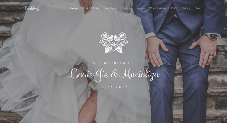 Лендинг пейдж - свадебный шаблон сайта