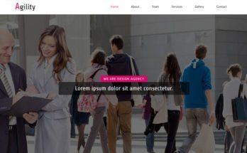 HTML шаблон сайта - дизайнерское агентство
