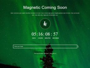 HTML заглушка сайта - Magnetic