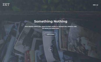 Простой шаблон сайта на Bootstrap