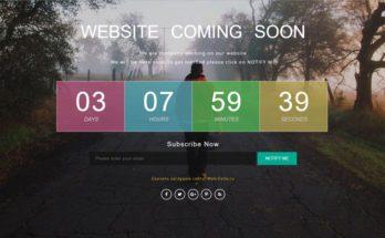 Заглушка сайта на HTML5 и CSS3