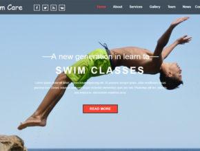 Шаблон Landing page - уроки плавания