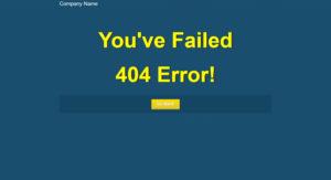 Синяя 404 страница ошибки