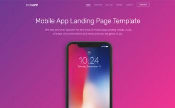 Шаблон Bootstrap - мобильное приложение