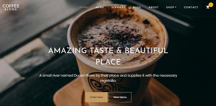 Шаблон Landing page — кофейня